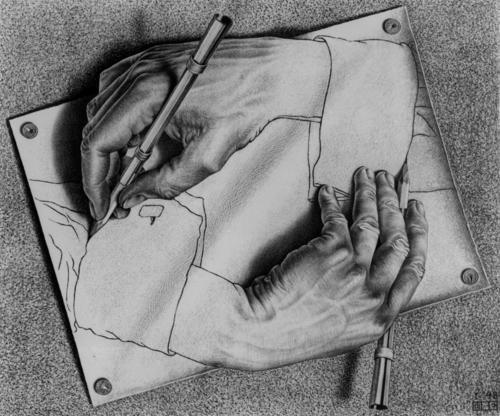 mc escher hands