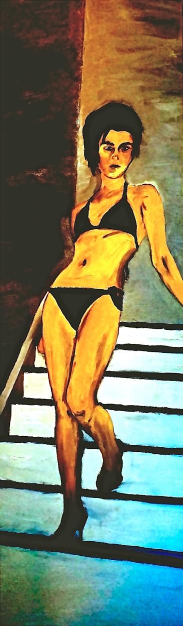 """""""denouement;"""" oil on canvas."""