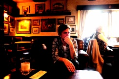 Professor Charles McGuire and photographer Mikael Gregorsky stop off for another pint at the Inn at Somerset.